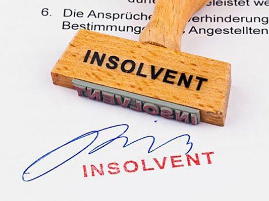 Die Firma kann den Schuldenberg nicht mehr bewältigen.