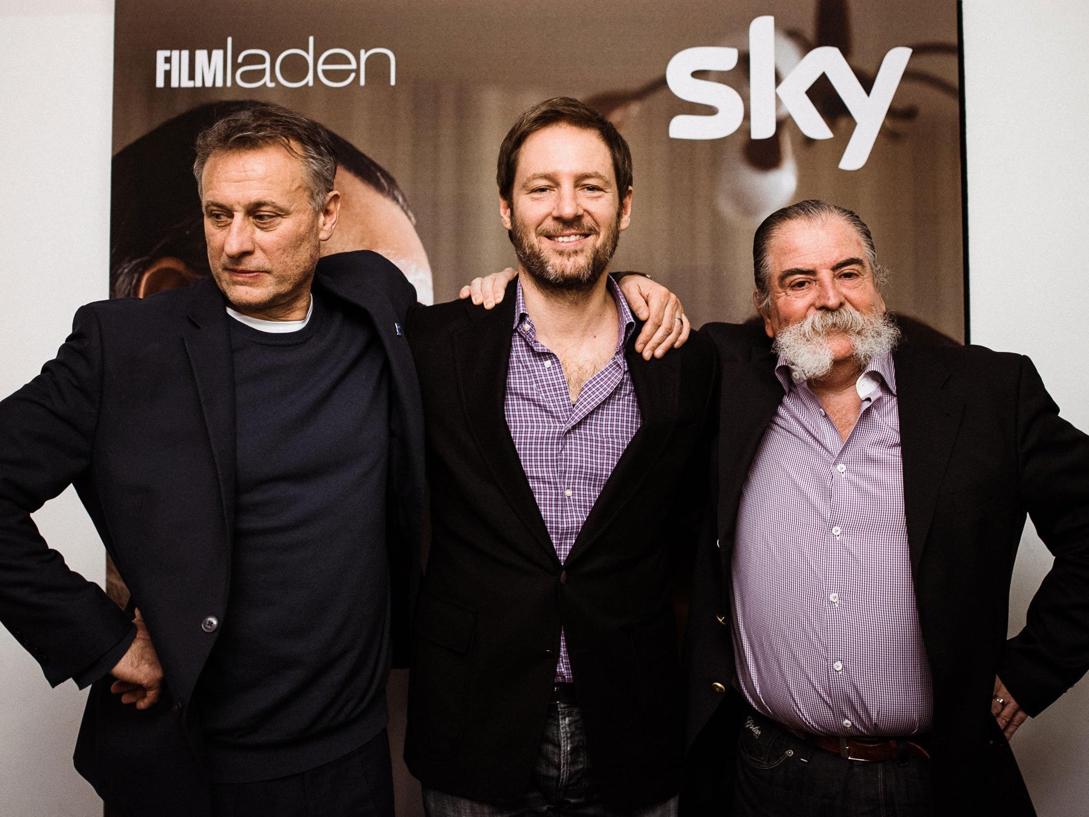 """Nyqvist, Gallenberger und Zott bei der Sky Kinopremiere von """"Colonia Dignidad""""."""