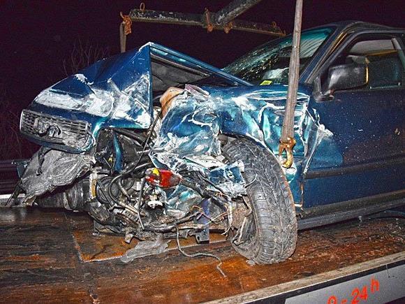 Der Unfallwagen auf der S4