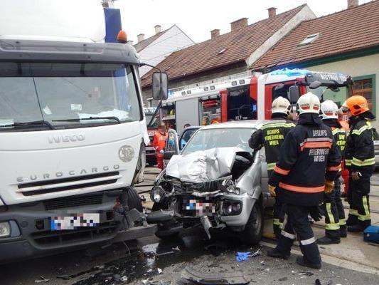 Schwerer Unfall in Donaustadt.