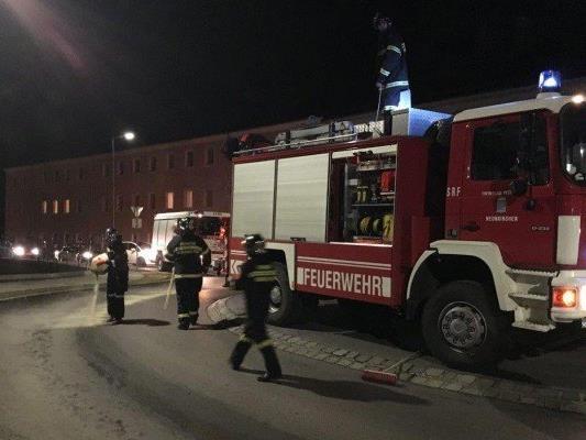 Die Feuerwehr musste ausrücken, um die Verkehrsbehinderung zu entfernen.