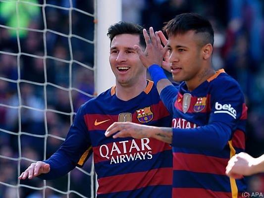Messi und Neymar steuerten insgesamt drei Tore bei