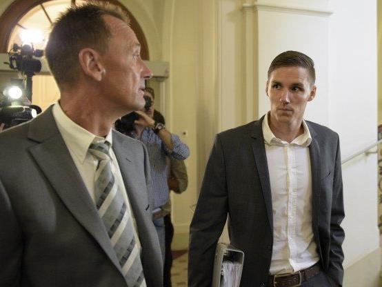 Dominique Taboga (rechts) mit seinem Anwalt Thomas Moser