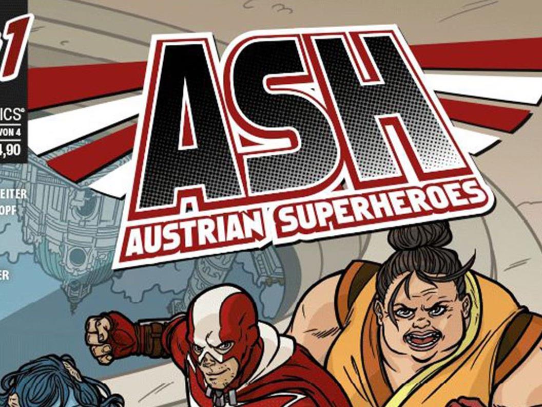 "Neue Comicserie: ""Austrian Superheroes""."