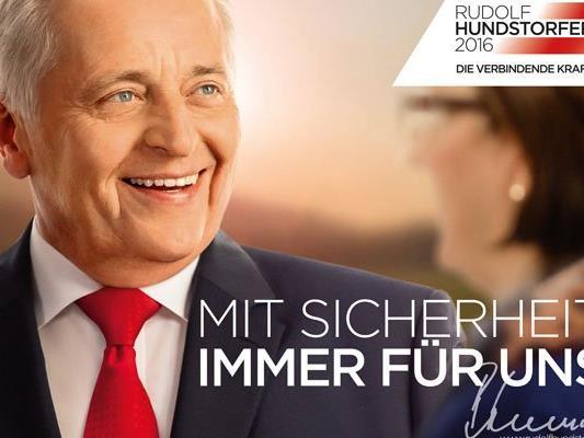 Rudolf Hundstorfer präsentierte seine Plakat-Kampagne zur BP-Wahl.