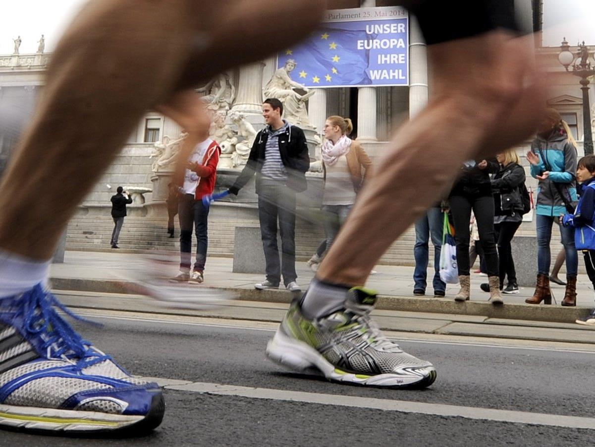 Valentin Pfeil gibt beim Vienna City marathon 2016 sein Marathon-Debüt.