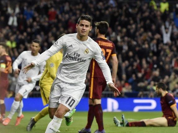 James Rodriguez sorgte für den zweiten Real-Treffer.