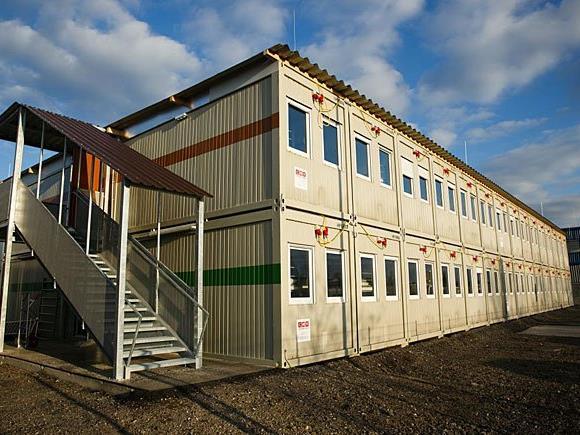 Die Errichtung temporärer Flüchtlingsunterkünfte wie dieser soll erleichtert werden