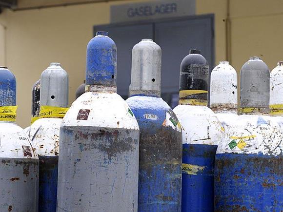 Produktwarnung für Fünf-Kilo-Flüssiggasflaschen