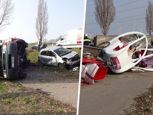 Ein Pkw und ein Klein-Lkw waren in den Unfall involviert.