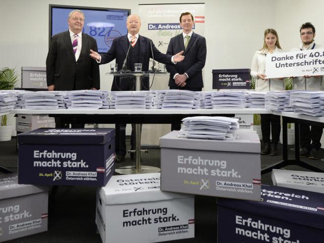 Große Freude bei Khol und der ÖVP.