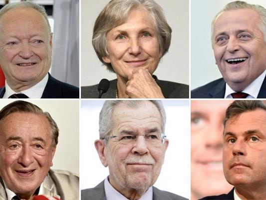 Die sechs BP-Kandidaten im Portrait.