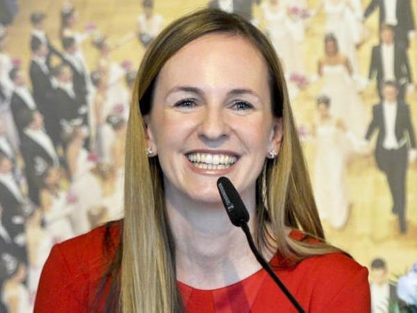 Maria Großbauer bei der Pressekonferenz in Wien.