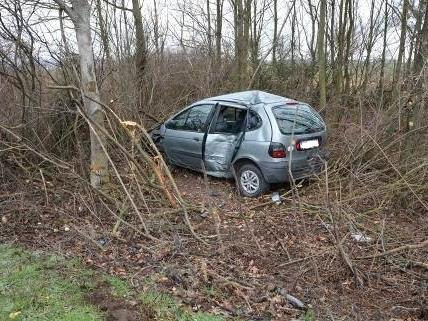 Die Fahrerin krachte gegen einen Baum.