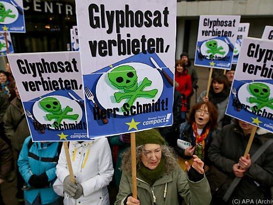 Protest gegen das Pflanzenschutzmittel Glyphosat