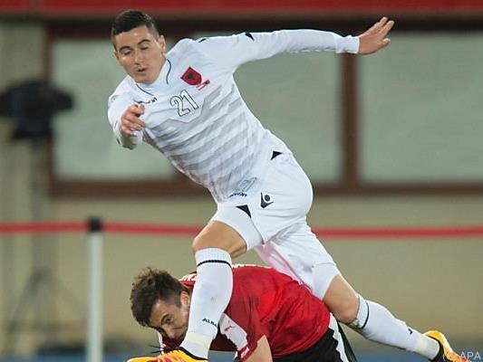 In Wien setzte es für Albanien eine 1:2-Niederlage