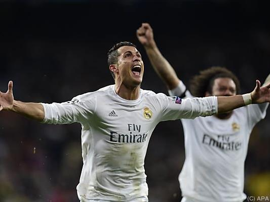 Cristiano Ronaldo schoss alle drei Tore für Madrid