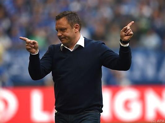 Es geht in zwei Richtungen, weiß Schalke-Coach Andre Breitenreiter