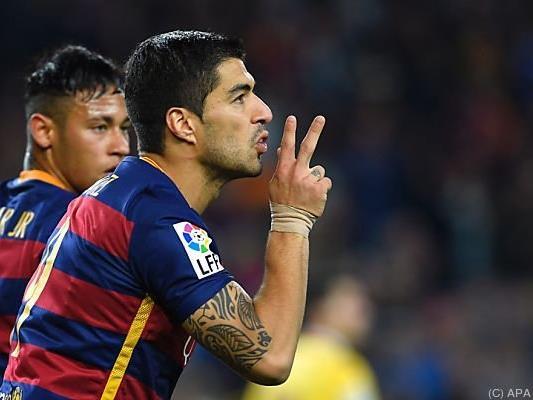 Mit Suarez in Topform schwer zu stoppen