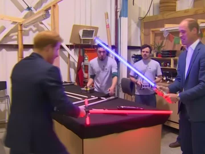 Royaler Besuch am Filmset von Star Wars.