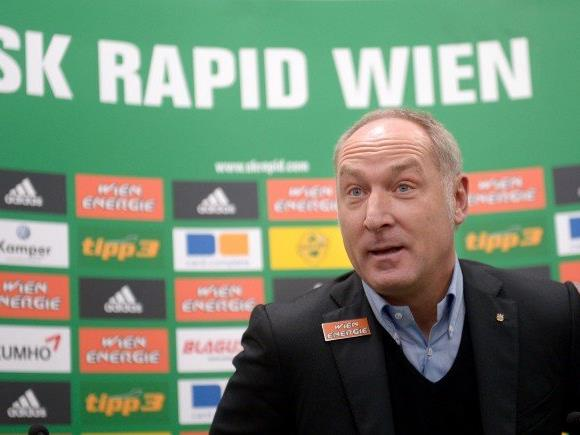 Freude bei Rapid-Sportchef Andreas Müller.