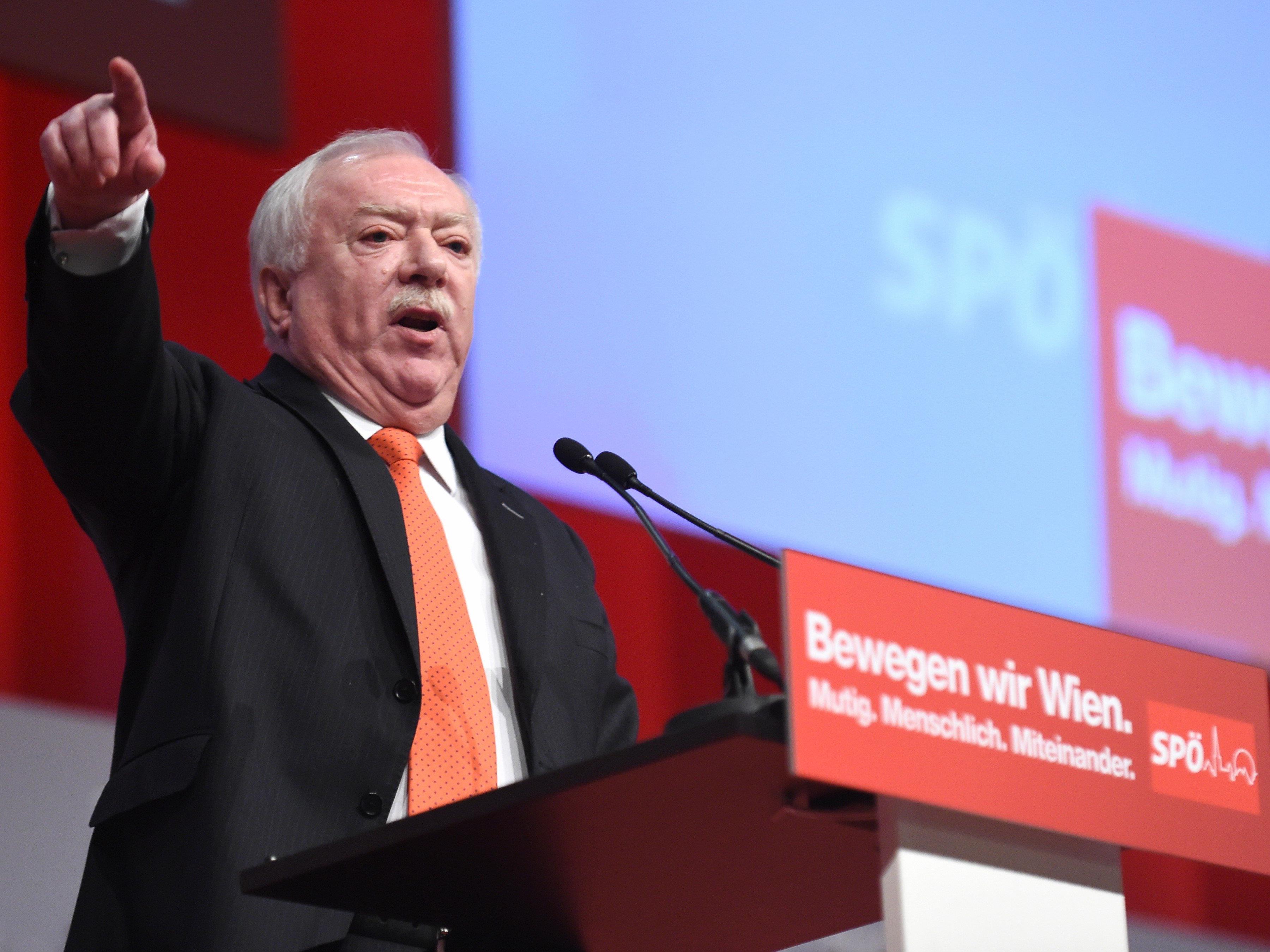 Bürgermeister Michael Häupl auf dem Landesparteitag der Wiener SPÖ.