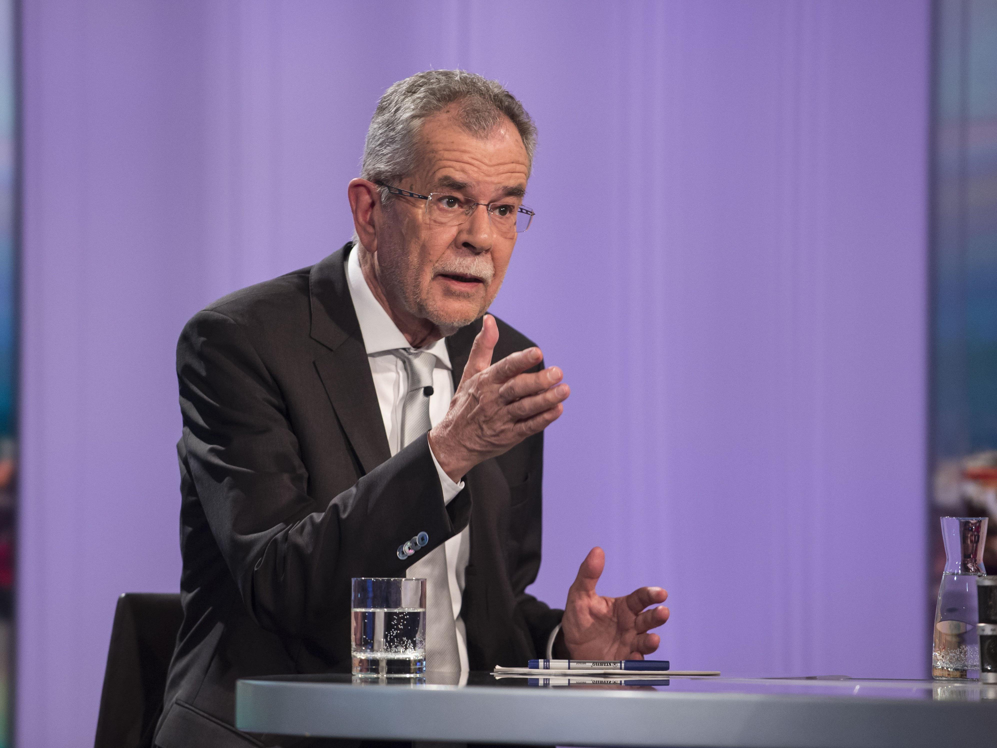 BP-Wahl - Flüchtlingskrise dominierte Pressestunde mit Van der Bellen