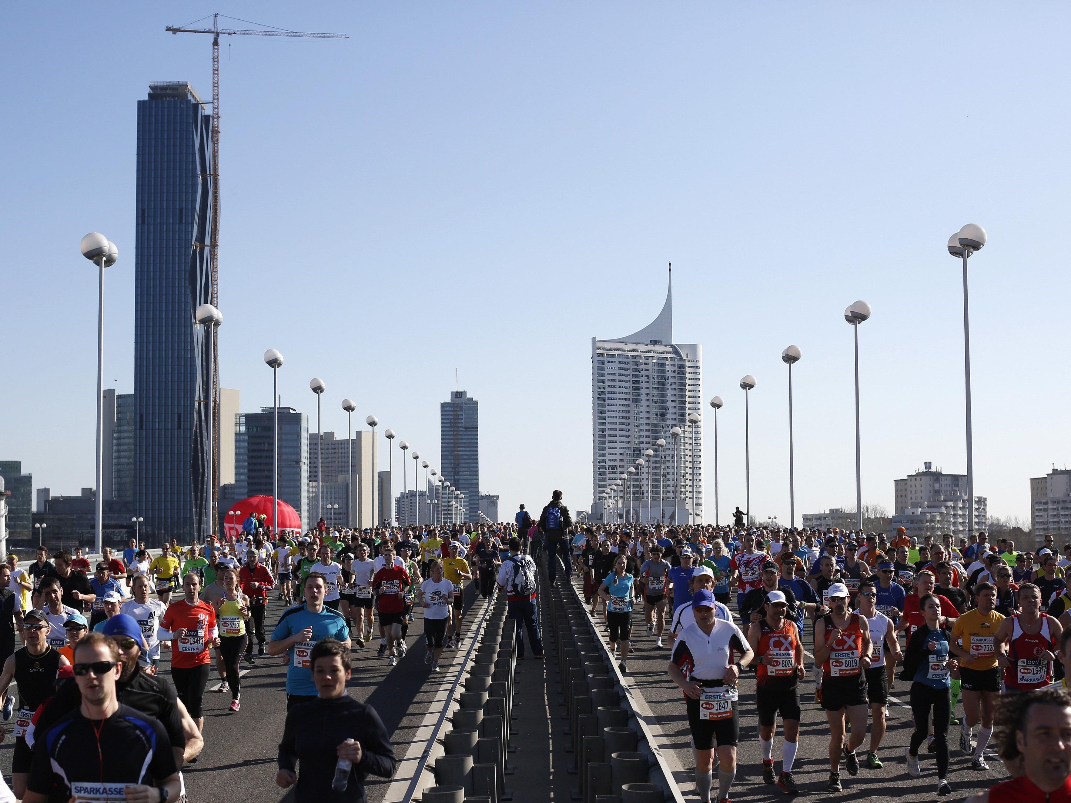 Sperren und Umleitungen rund um den Wien-Marathon 2016.