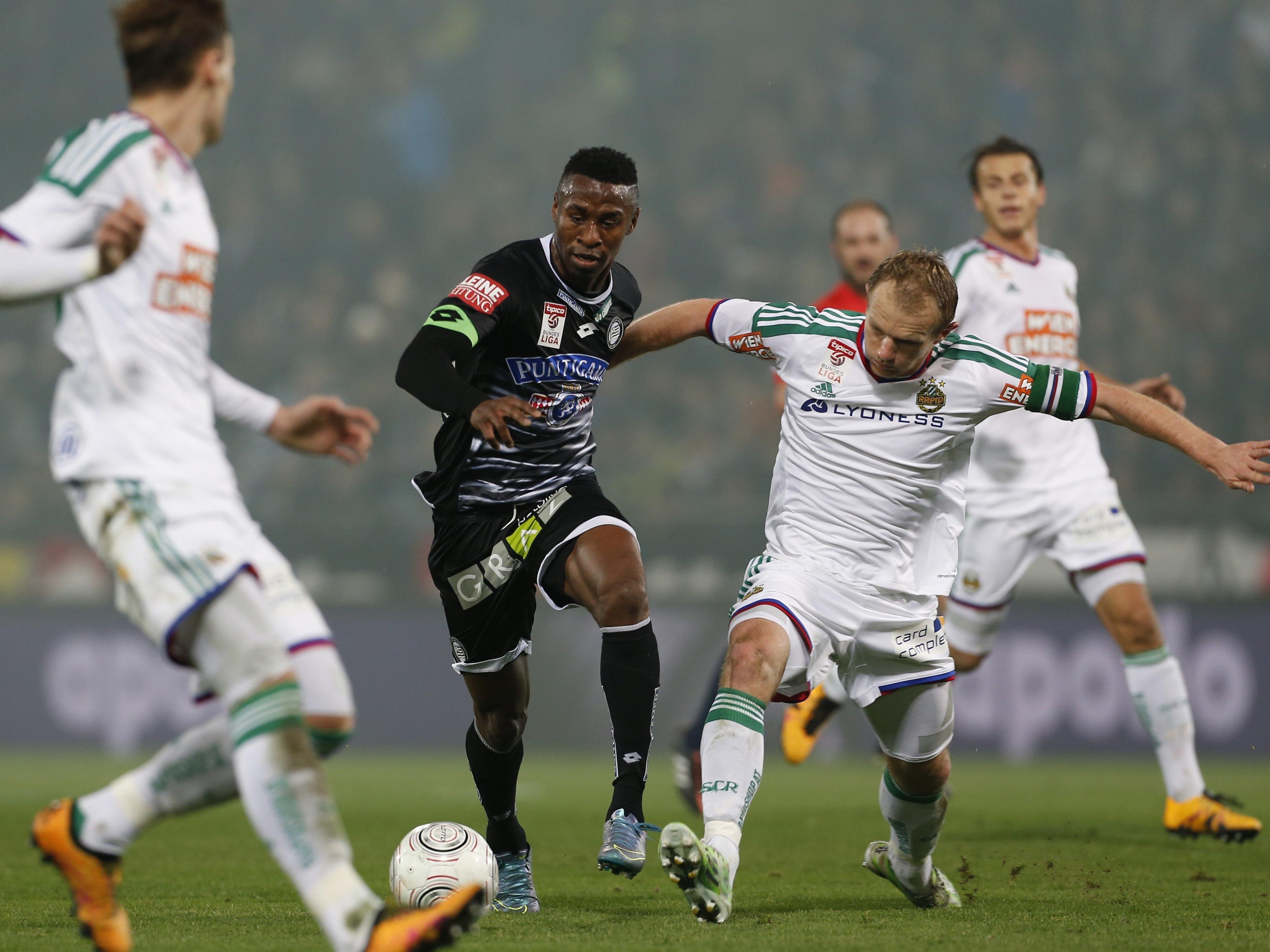 LIVE-TIcker zum Spiel SK Rapid Wien gegen SK Sturm Graz ab 16.30 Uhr.