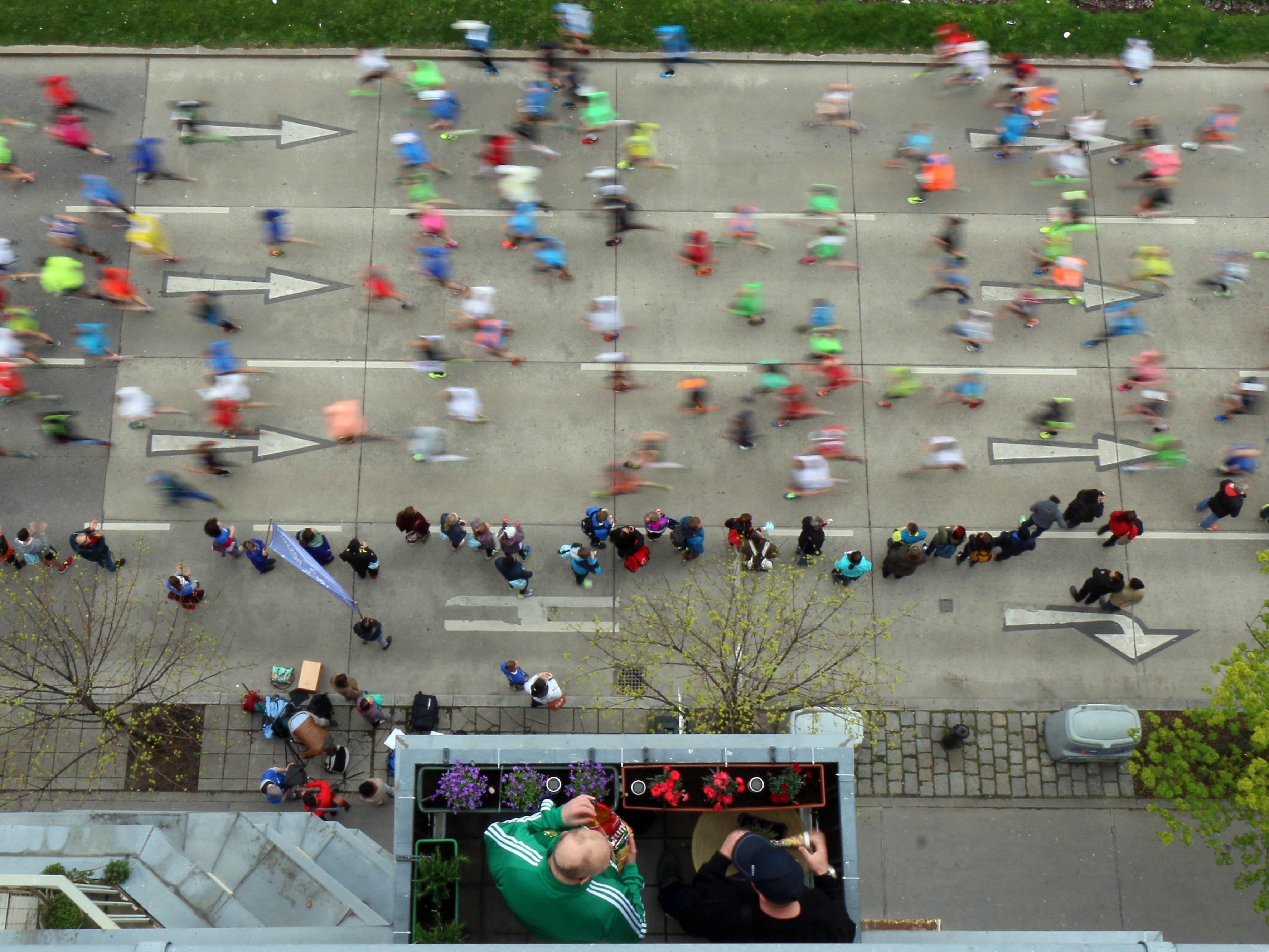 Die schönsten Aufnahmen von Vienna City Marathon 2016.