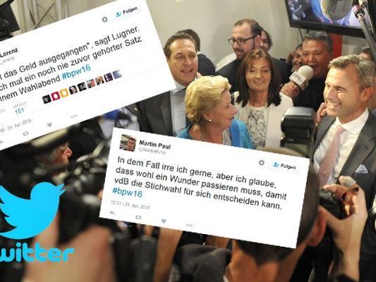 Zehntausende Tweets gab es zur Bundespräsidentschaftswahl.