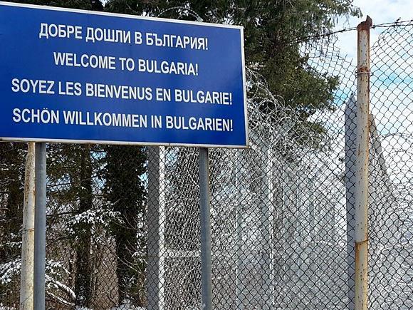 Am Grenzübergang Malko Tarnovo an der bulgarisch-türkischen Grenze