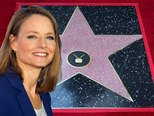 Schauspielerin Jodie Foster bekommt einen Stern in Hollywood.