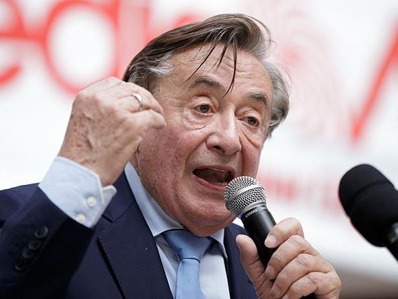 Präsidentschaftskandidat Richard Lugner ist über den ORF erbost