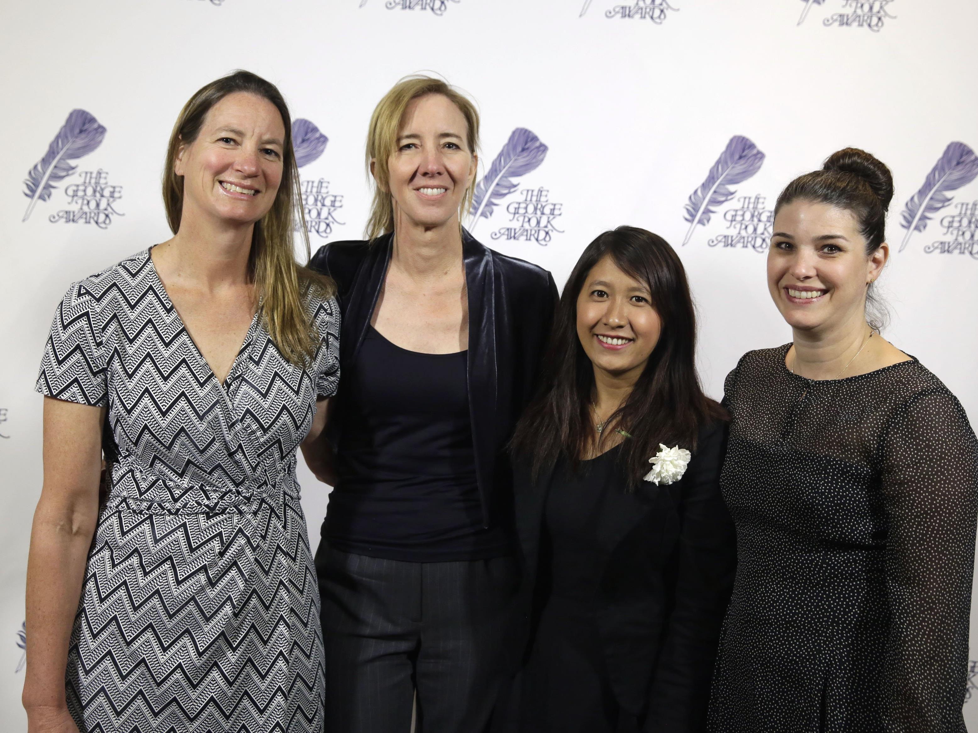 Die AP-Journalistinnen Martha Mendoza, Robin McDowell, Esther Htusan and Margie Mason (v.l.n.r.)