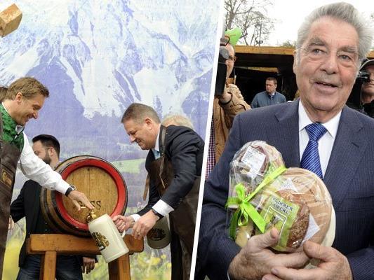 Der Steiermark-Frühling wurde mit dem traditionellen Bieranstich feierlich eröffnet.