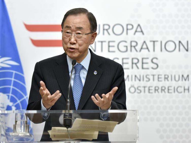 UNO-Generalsekretär Ban Ki-moon am Dienstag in Wien.