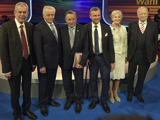 Die Kandidaten der Bundespräsidentenwahl 2016 am Sonntag