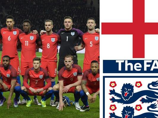 Kader un Teamportrait der englischen Nationalmannschaft.