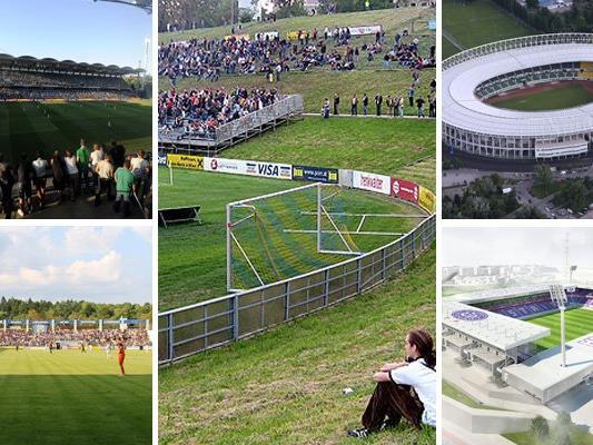 Die fünf großen Wiener Fußballstadien.