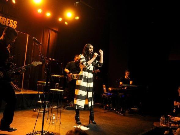 Conchita bei ihrem Konzert in Wien am Mittwoch.