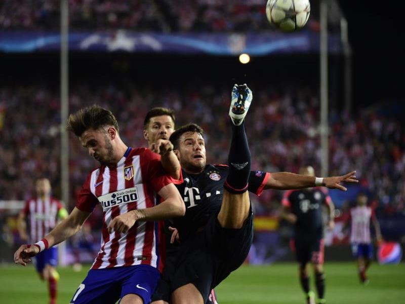 Umkämpftes Spiel im Vicente Calderon