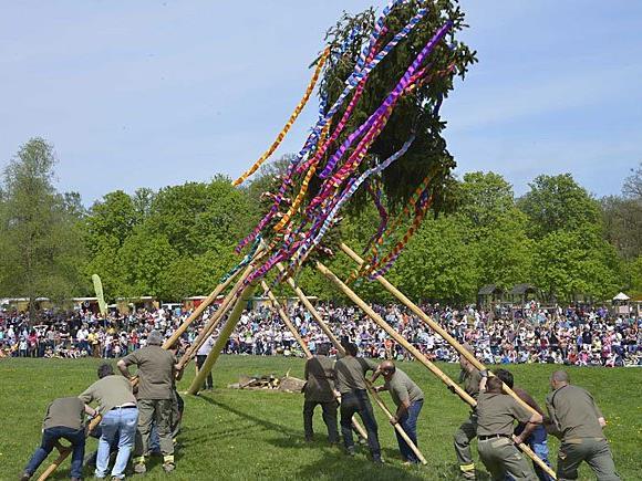 Beim Frühlingsfest im Lainzer Tiergarten