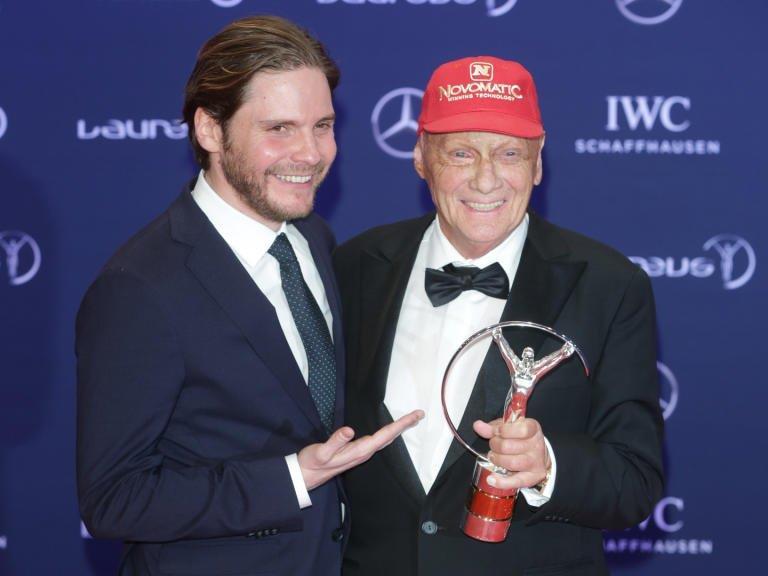 Niki Lauda mit Schauspieler Daniel Brühl