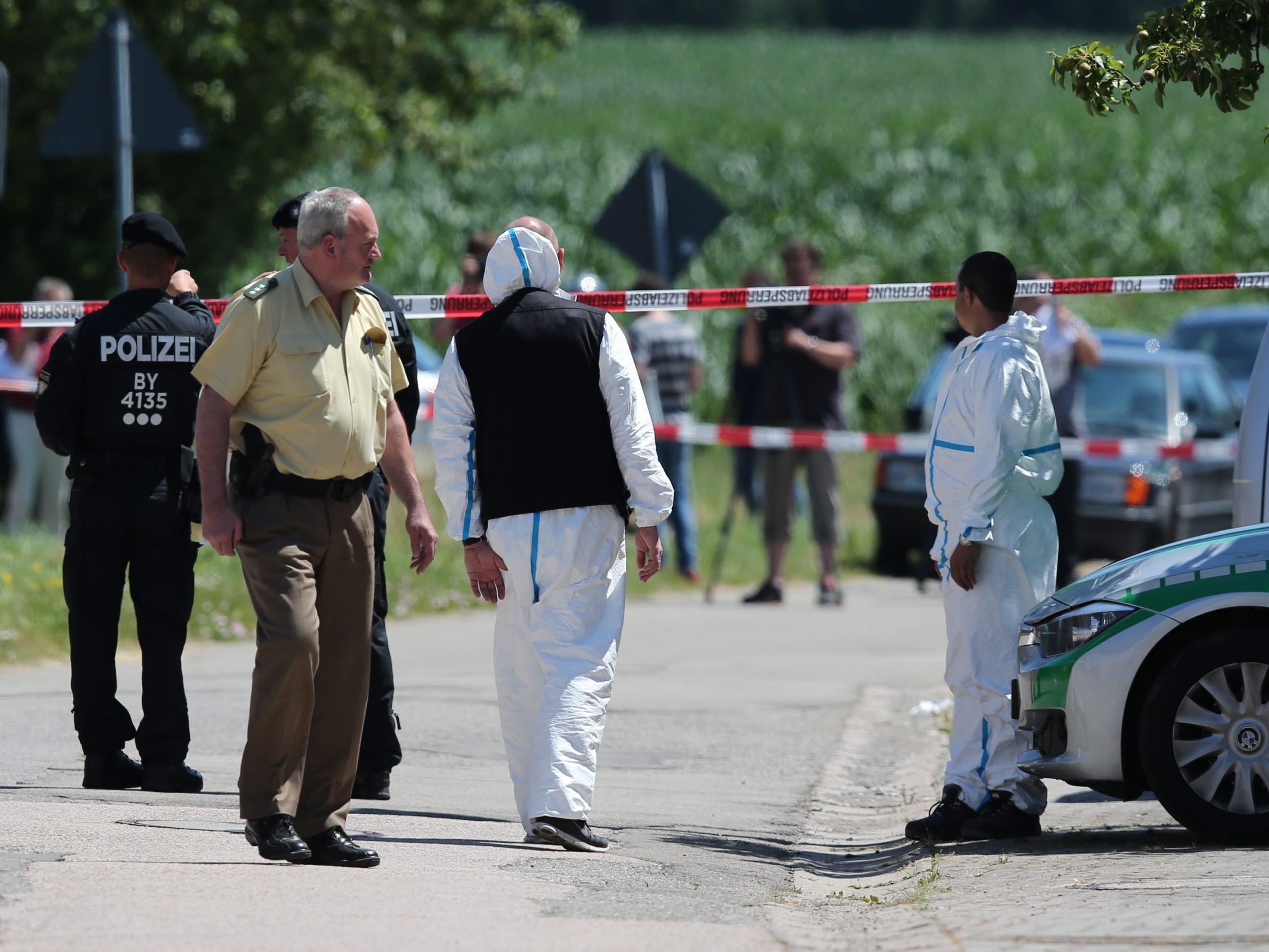 Am Tatort in Leutershausen. Ein 48-Jähriger erschoss dort letzten Sommer zwei Menschen.