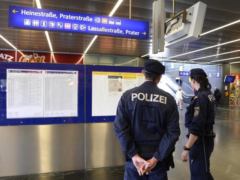 Die Polizeipräsenz am Praterstern wurde erhöht.