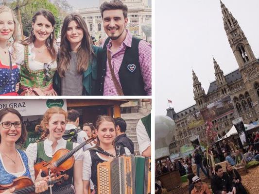 Nach Herzenslust gefeiert wurde heuer beim Steiermark Frühling in Wien