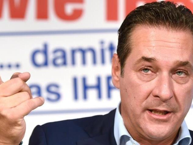Als Testimonial im Einsatz ist wohl unfreiwillig FPÖ-Chef Heinz-Christian Strache