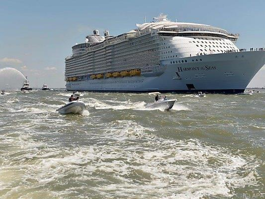 "Die ""Harmony of the Seas"" ist unterwegs nach Southampton"