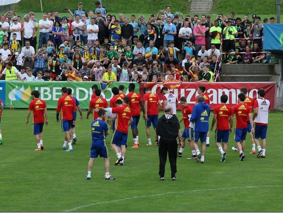 5000 Fans im Montafon bei Europameister Spanien